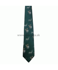 HEDVA kravata poľovnícka - jeleň a daniel č. 56