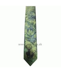 HEDVA kravata poľovnícka - jeleň a lane