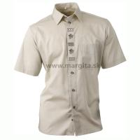 Pánska košeľa DUBOVÝ LÍSTOK - zelená, krátky rukáv