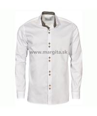 Pánska košeľa MOJMÍR - biela, dlhý rukáv