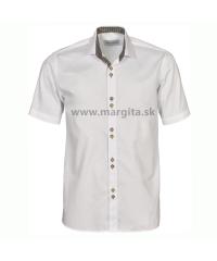Pánska košeľa MOJMÍR - biela, krátky rukáv