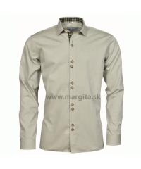 Pánska košeľa MOJMÍR - zelená, dlhý rukáv