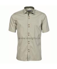 Pánska košeľa MOJMÍR - zelená, krátky rukáv