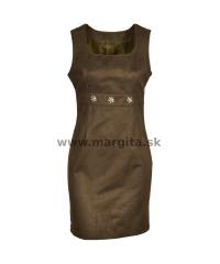 Dámske šaty FREDERIKA - hnedé
