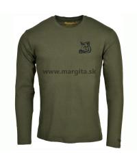 Pánske tričko MARGITA s dlhým rukávom - diviak