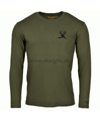 Pánske tričko MARGITA s dlhým rukávom - jeleň v tráve
