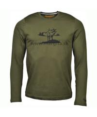 Pánske tričko MARGITA s dlhým rukávom - jeleň