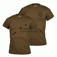 Pánske tričko MARGITA s krátkym rukávom, hnedé - vlčica