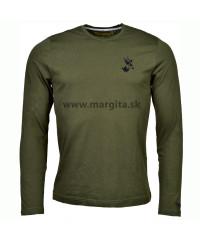 Pánske tričko MARGITA s dlhým rukávom - srnec