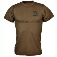 Pánske tričko MARGITA s krátkym rukávom, hnedé - diviak