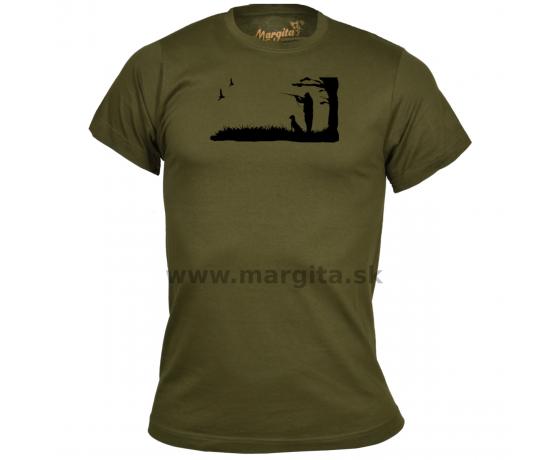 Pánske tričko MARGITA krátky rukáv - poľovník