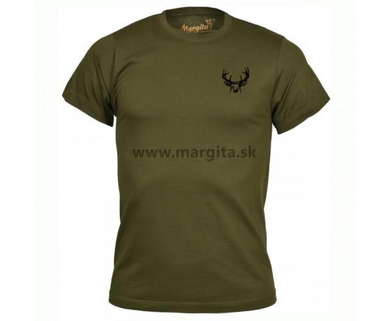 Pánske tričko MARGITA s krátkym rukávom - jeleň hlava