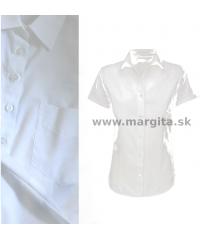 Dámska košeľa biela MARGITA - krátky rukáv
