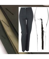 Dámske nohavice ANIČKA - hnedozelená