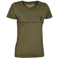 Dámske tričko MARGITA s potlačou krátky rukáv - srnec