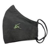 Čierne ochranné rúško so strieborným vláknom tvarované