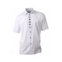 Košeľa DUBOVÝ LÍSTOK - biela, krátky rukáv