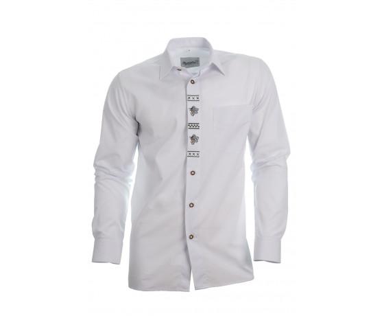 Košeľa DUBOVÝ LÍSTOK - biela, dlhý rukáv