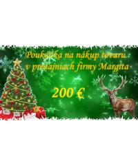 Vianočný darčekový poukaz 200€